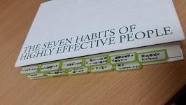 7つの習慣付箋